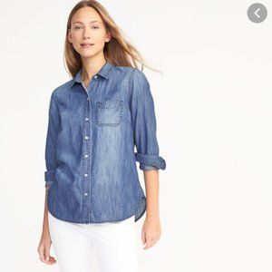 Old Navy Relaxed Fit Chambray Shirt